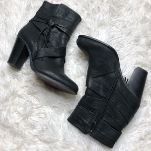 Vince Camuto Ferrarh black leather ankle booties